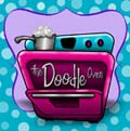 Website Title Logo The Doodle Oven Logo with polka Dots 120x120