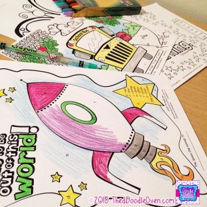 Preview Rocket ship BTS color by number and letter sheet