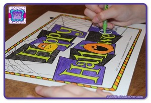 Blog pic of H coloring Happy Halloween Final