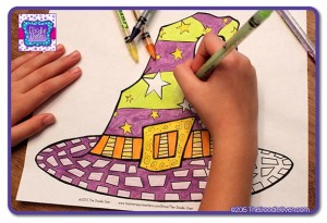Blog pic of H coloring Witch Hat The Doodle Oven