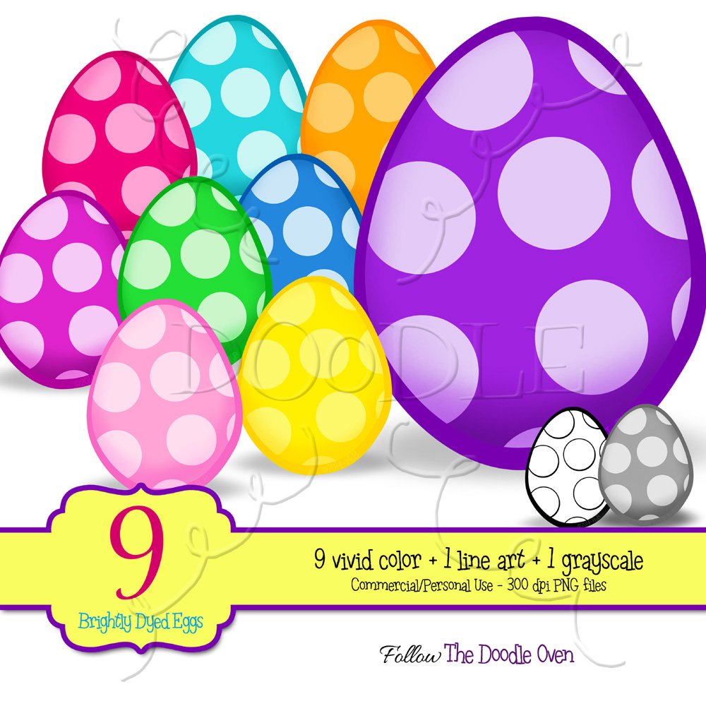 PREVIEW Polka Dot Easter Eggs {9 }