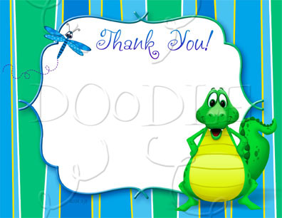 PREVIEW Postcard Thank you note – 4.25×5.5 Alligator BlankTemplate