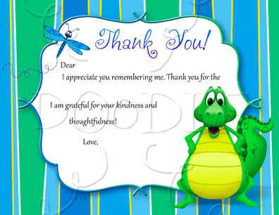 PREVIEW Postcard Thank you note – 4.25×5.5 Alligator Fill in the Blank