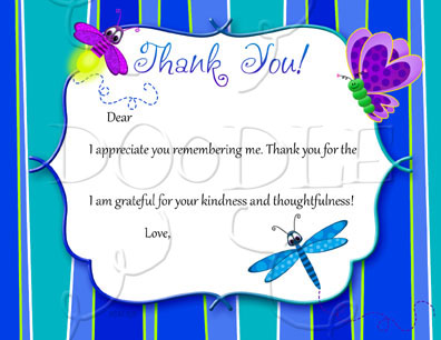 PREVIEW Postcard Thank you note – 4.25×5.5 Insect Fill in the Blank