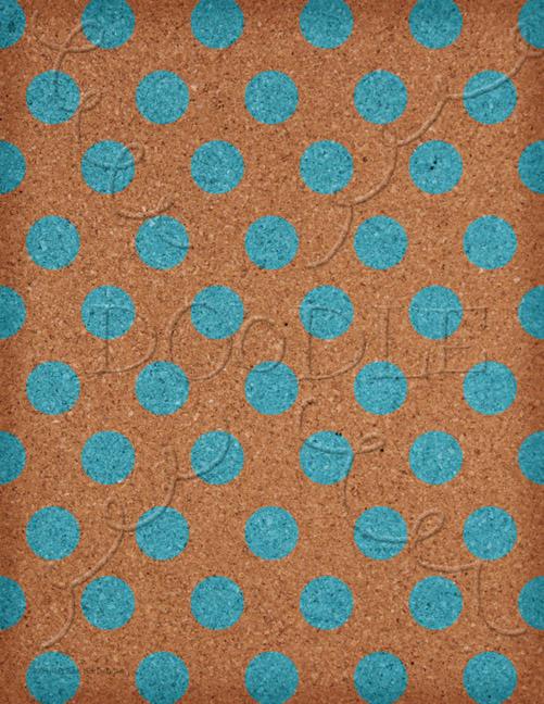 Preview Cork Board aqua polka dot pattern digi paper