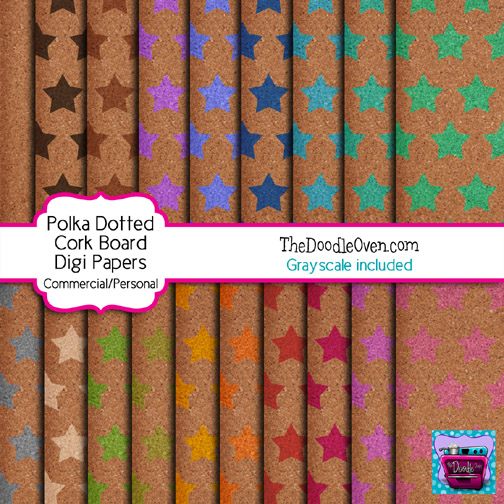 Preview Cork Board star digi papers