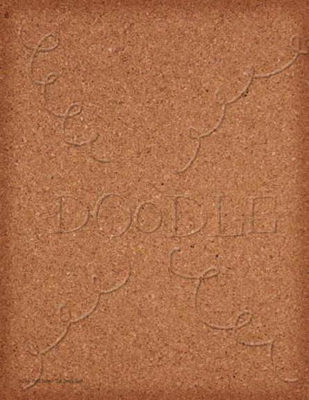 Preview Plain Cork Board vignette edges digi paper