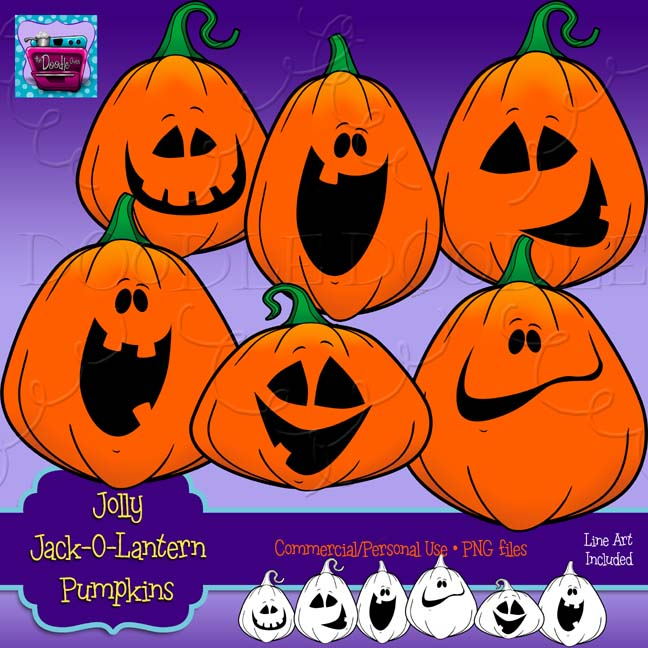 PREVIEW of Jolly Jack-O-Lanterns – The Doodle Oven
