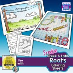 PREVIEW of FREEBIE 10-11-15 Latin & Greek Roots Coloring pages