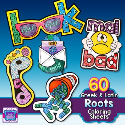 Greek And Latin Roots Coloring Pages Instant Digital