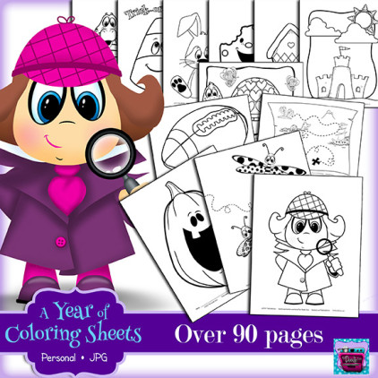 PREVIEW (Updated 2-08-15) A year of Coloring Sheets