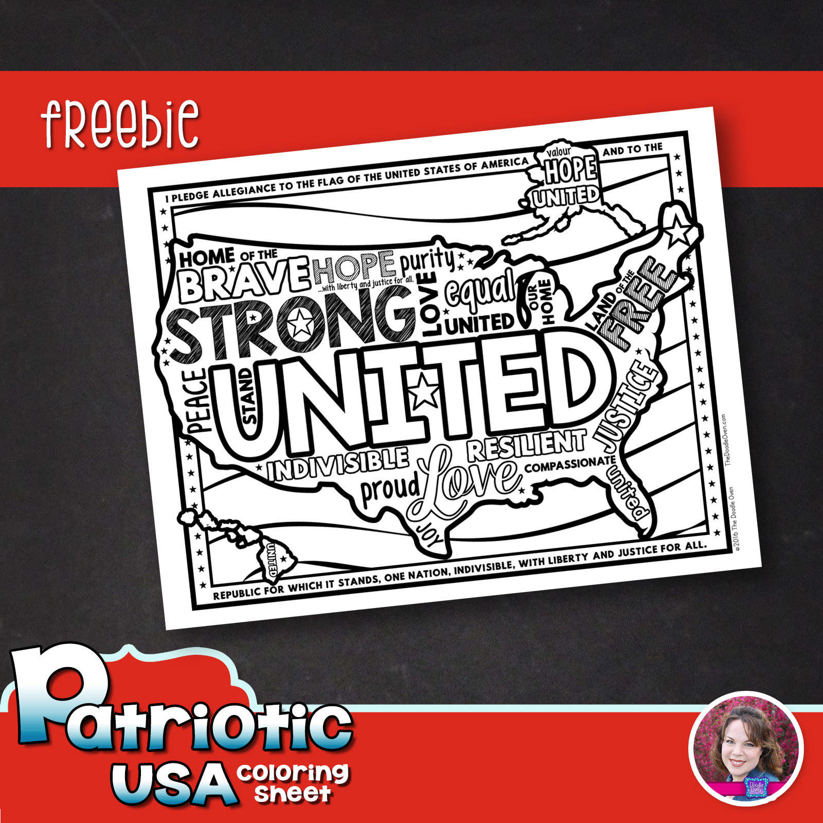United We Stand Free Coloring Page