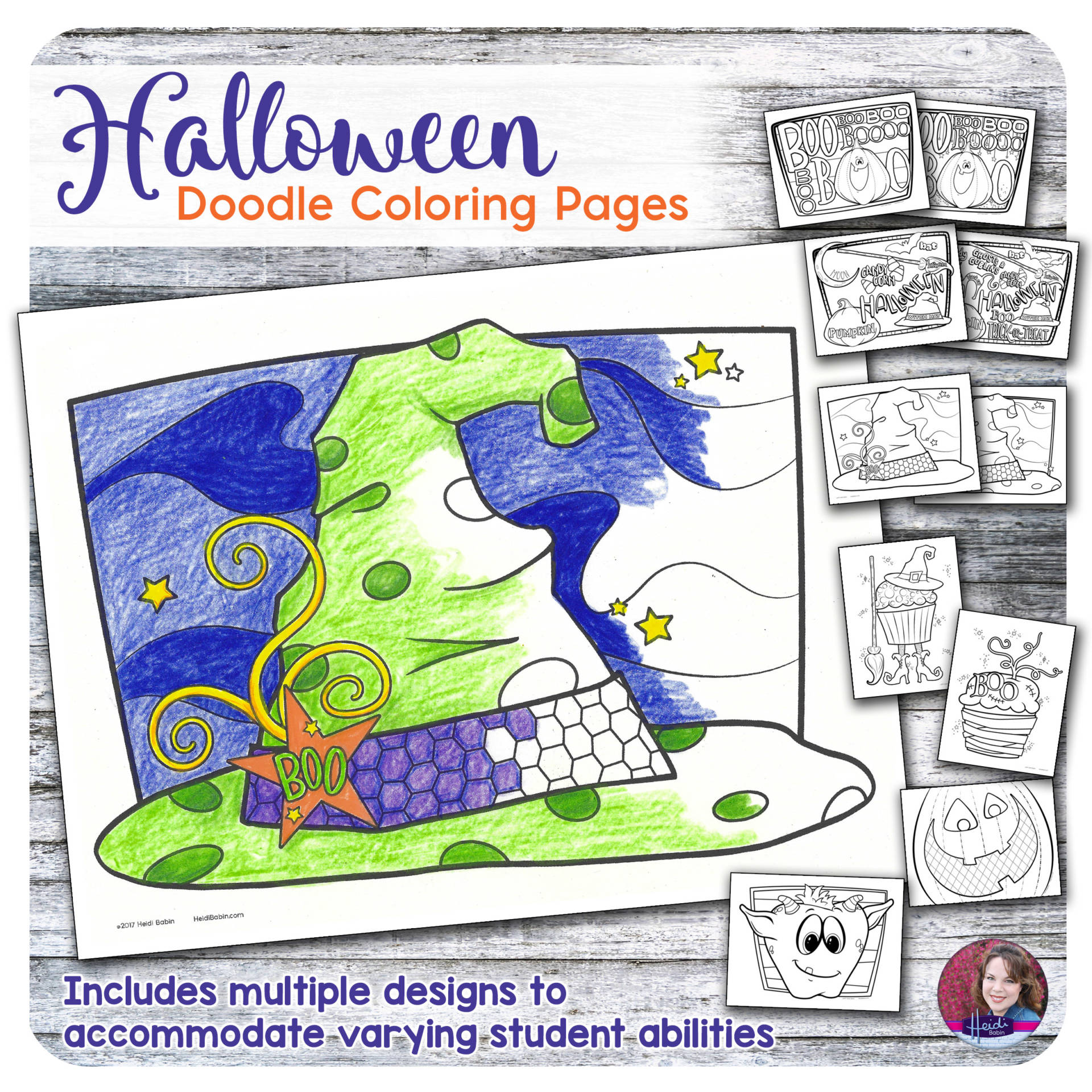 Halloween Doodle Coloring Pages