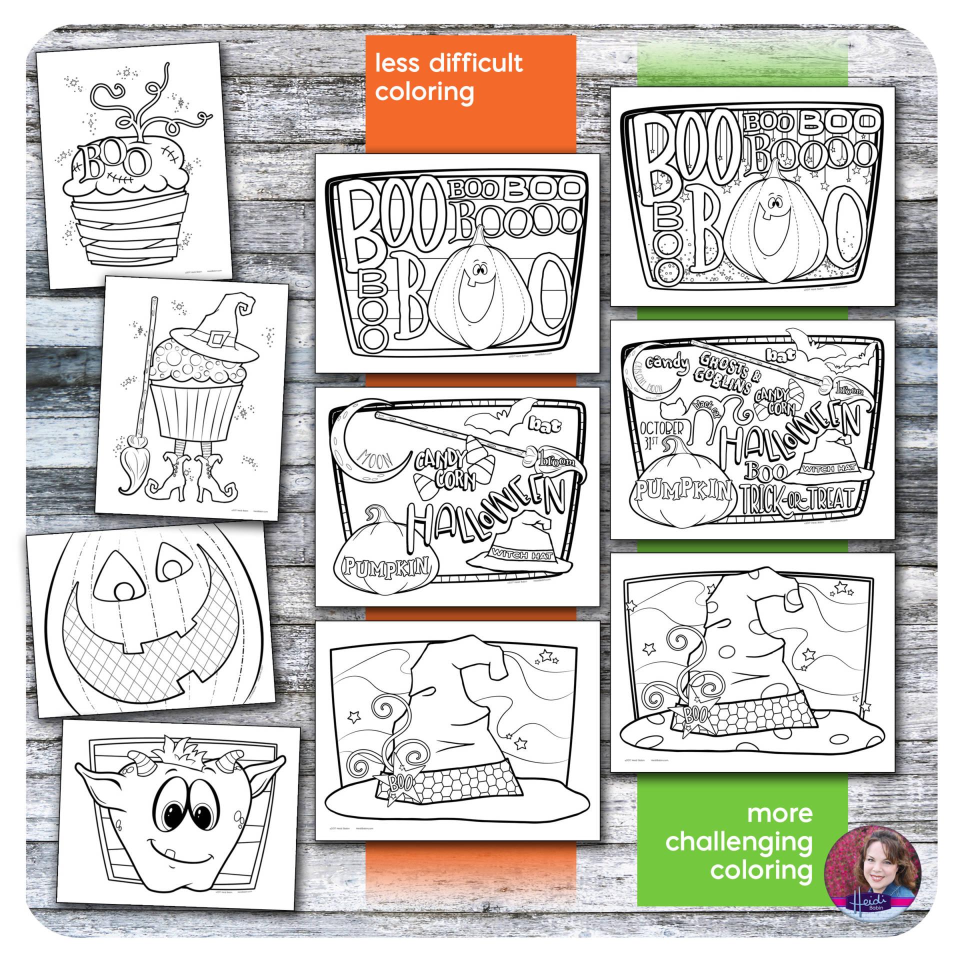 halloween doodle coloring pages u2013 heidi babin